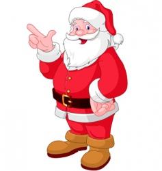 Christmas Santa pointing vector image