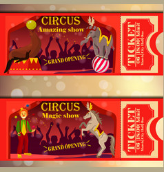 Circus tickets vector
