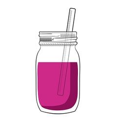 doodle smoothie jar vector image vector image
