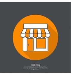 Facade of shops supermarkets marketplace vector