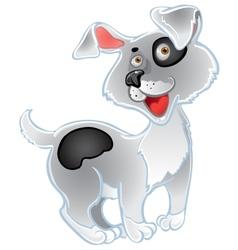Fun white dog vector image vector image