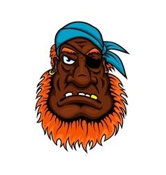 Grim evil looking one eyed pirate vector image vector image