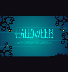 Halloween background scary collection style vector
