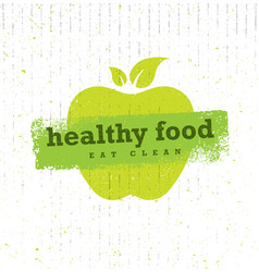 Healthy food organic paleo style rough vector