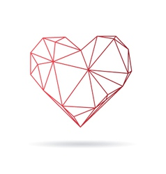 Heart abstract isolated on a white backgrounds vector