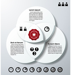 Infographics with three overlapping circles vector