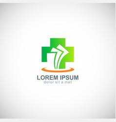 medic cross hospital paper logo vector image