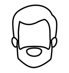 Monochrome contour of faceless elderly man with vector