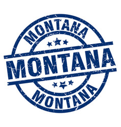 Montana blue round grunge stamp vector