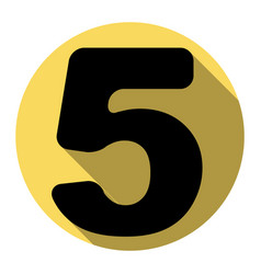 number 5 sign design template element vector image