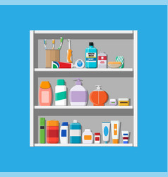 oral care and hygiene products vector image