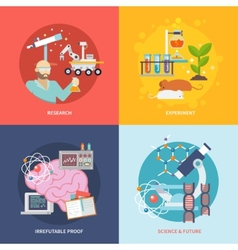 Science and research set vector