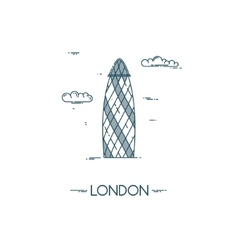 Skyscraper Gherkin in City of London vector image