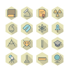 Thin Line Icons For Science and Education vector image vector image
