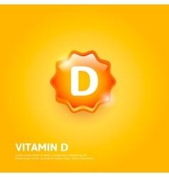 Vitamin d label vector