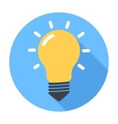 Lightbulb flat design icon vector