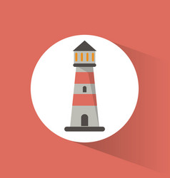 lighthouse guide navigation symbol vector image