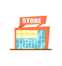Modern store building isolated icon vector