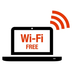 Wi-Fi free icon vector image