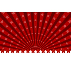 greeting card with red stars vector image