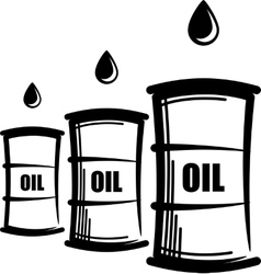 simple with oil barrels vector image