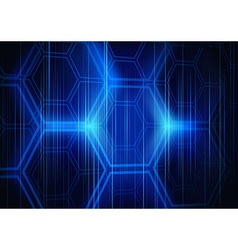 Abstract background hexagon vector
