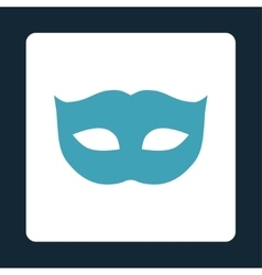 Privacy mask flat blue and white colors rounded vector