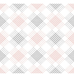 Pattern with red and blak rhombus and lines vector