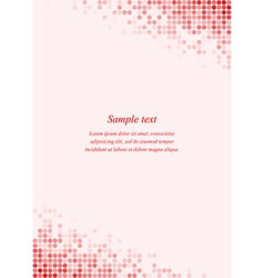Red page corner design template vector