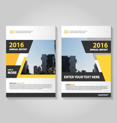 Yellow black annual report leaflet brochure vector
