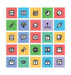 Seo and marketing icons 6 vector