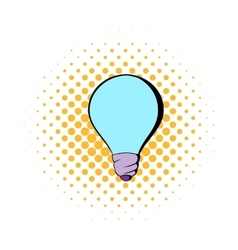 Light bulb icon in comics style vector