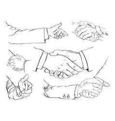 Handshake set vector