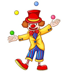 A clown juggling vector image