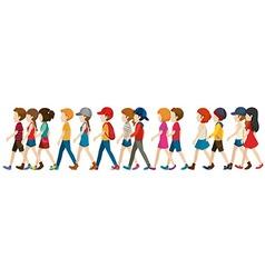 A crowd walking vector image vector image