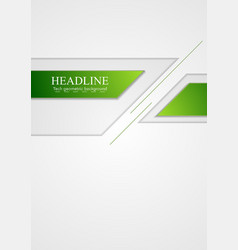 Abstract green grey tech corporate background vector image