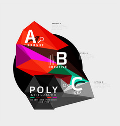 Abstract polygonal infographics vector