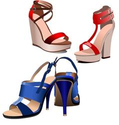 al 0801 shoes vector image vector image