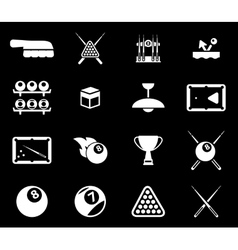Billiards simply icons vector