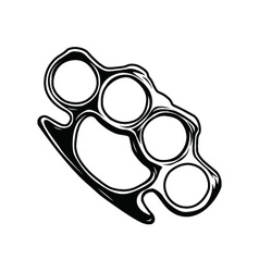 Brass knuckles vector
