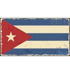 Cuban grunge flag vector image