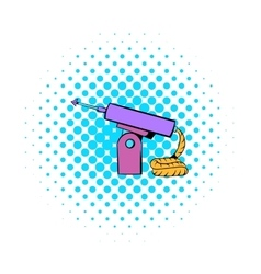 Fishing speargun icon comics style vector