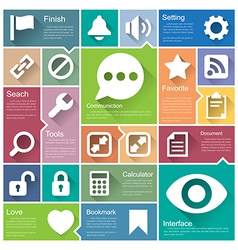 Flat design interface icon set 5 vector image vector image