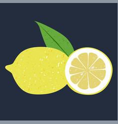 Fruit lemon clip art vector