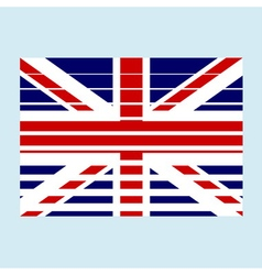 GB flag with effects vector image