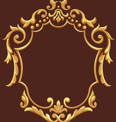 Golden royal ornament vector