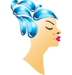 Hairstyle with droplets vector image vector image
