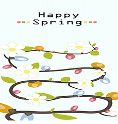 happy flower spring background vector image