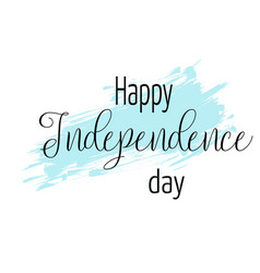 happy independence day background with blue vector image vector image