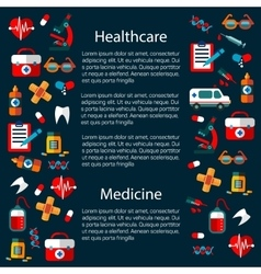 Healthcare and medicine infographic template vector